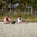 Naples - Couple Reading on the Beach (urika2md) Tags: naples2018