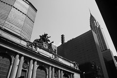 Grand Central Terminal & Chrysler Building (Tom_Jones7) Tags: new york city nyc manhatten black white monochrome chrysler building grand central terminal clock newyork april life citylife travel adventure canon travelphotography traveling travelbug travelmore goexplore explorer exploring newplaces myview bw blackandwhite bnw blackandwhitephotography 2015 2k15 photograph photo photographer metlife metlifebuilding skyscraper columns lamp streetlight blackwhite blackwhitephoto excellentbnw noir blackwhitelife noirvision contrast travelling passion lifestyle photographyislife photographerlifestyle justgoshoot icatching exploringtheworld optoutside exploretocreate discover discoverearth travelphoto worldpics stayandwander goroam keepexploring travelworld mylifeinphotos