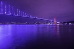 Bridge over Bosphorus (Mustafa Kasapoglu) Tags: türkiye turkey bosphorus nightphoto nightphotography night nightshot longexposure