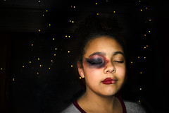 Face paint, going for Bowie. (moonglampers) Tags: jazzlyn facepaint face paint bowie