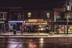 Brokerage (A Great Capture) Tags: agreatcapture agc wwwagreatcapturecom adjm ash2276 ashleylduffus ald mobilejay jamesmitchell toronto on ontario canada canadian photographer northamerica torontoexplore winter l'hiver 2019 city downtown lights urban night dark nighttime cold snow weather cityscape urbanscape eos digital dslr lens canon 70d sigma 1750mm reflection mirror glass reflections outdoor outdoors outside architecture architektur arquitectura design streetphotography streetscape photography streetphoto street calle neige schnee darkness nocturnal illuminate lighting stores retail pawnbrokers queen jones leslieville propertyca