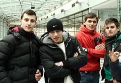Four Boys from Meidling (Wolfgang Bazer) Tags: arcade meidling meidlinger hauptstrase einkuaufszentrum shopping mall centre center burschen boys guys young men junge männer romania rumänien chechnya tschetschenien jungs vier four wien vienna österreich austria