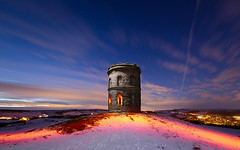 The Temple (J C Mills Photography) Tags: peakdistrict derbyshire buxton solomonstemple lightpainting tower folly longexposure snow winter night bluehour