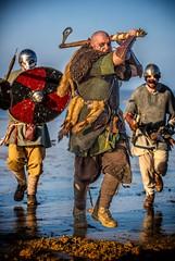 To Valhalla... (waynedavey67) Tags: canon canoneos5dmkiiil 5dmkiii 70200mmlf28 prortait reenactment vikings action charge war fight
