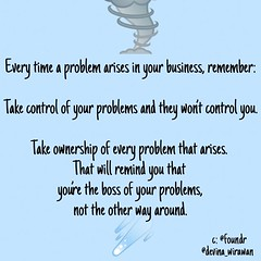 Jangan takut dengan masalah, munculnya masalah pertanda bisnismu sedang berkembang. Fokus saja untuk memecahkan masalah itu. Masalah selesai berarti level bisnismu meningkat. Adanya masalah juga menguji komitmen mu terhadap goalmu. Don't worry about every (Devina Wirawan) Tags: ifttt instagram jangan takut dengan masalah munculnya pertanda bisnismu sedang berkembang fokus saja untuk memecahkan itu selesai berarti level meningkat adanya juga menguji komitmen mu terhadap goalmu don't worry about every big picture goal all time often you need just focus problem have right front can keep moving forward so when problems arise think solution totally love article thank foundr
