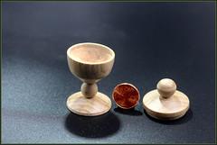 Gedrechselter Pokal mit Deckel Holz ist Buche (manfredkirschey) Tags: woodworking drechseln pokal buche düsseldorf kirschey