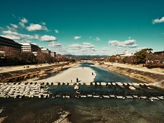 Kyoto - Japan. (Mick Gallemore) Tags: japan kyoto river blue sky landscape lumix m43 micro four thirds panasonic winter