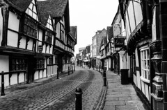 Bygone Age (WorcesterBarry) Tags: street streetphotography streetphoto places paths outdoors old lovebw light cobbles lines buildings worcester weather windows england adventure architecture city fun happiness monochrome nature urban