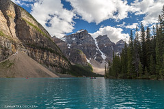 Moraine Lake from a Canoe (Samantha Decker) Tags: ab alberta banffnationalpark canada canadianrockies canonef24105mmf4lisusm canoneos6d morainelake parkscanada rockymountains samanthadecker