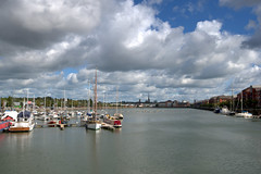 Clouds over Preston Docks (Tony Worrall) Tags: preston lancs lancashire city welovethenorth nw northwest north update place location uk england visit area attraction open stream tour country item greatbritain britain english british gb capture buy stock sell sale outside outdoors caught photo shoot shot picture captured ilobsterit instragram photosofpreston ashtononribble ashton prestondocks prestonmarina docks marina wet water waterside clouds cloudy weather calm serene