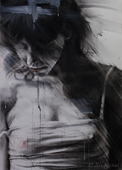 DSC_1398+web-2 (jiri.metod) Tags: woman womanhair bw drawing mixedmedia monochrome charcoal chalk conte acrylic girl