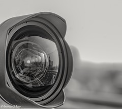 Minimalist The objective (andreasscharr) Tags: canon5dmarkiv ef24105mmf4lisusm frankfurtammain monochrom einfarbig blackwhite schwarzweiss deutschland germany objektive