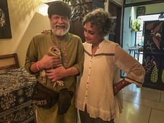 Arundhati and Shahidul with baby owl 9877 (shahidul001) Tags: photographer writer bangladesh india owl bird injury