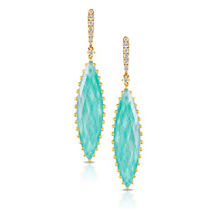 Bright and Rich 18k Yellow Gold Diamond Earring With Clear Quartz Over Amazonite (diamondanddesign) Tags: brightandrich18kyellowgolddiamondearringwithclearquartzoveramazonite e6930az 18k yellow gold amazon breeze doves earrings 036 ct diamond clear quartz over amazonite front