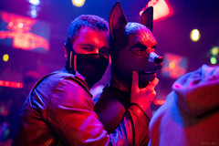 DSC00399 (Kory / Leo Nardo) Tags: frolic party fur furry fursuit suiting sona fursona san francisco california bar club the eagle dance dj pupleo 2019 pup rubberdawg rubber neoprene mask