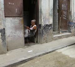 woman in doorway (Jackal1) Tags: woman people street doorway havana cuba decay step