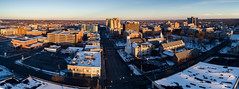 Kalamazoo, Michigan (bill.d) Tags: dji djiphantom4advanced kalamazoo kalamazoocounty michigan unitedstates aerialphotography cityscape downtown drone flying goldenhour outdoor skyline sunset us