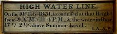 [73619] York : Merchant Adventurers' Hall - High Water Line (Budby) Tags: york northyorkshire hall guild gild water river flood