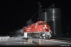 Night Train Through Leaf River (R.G. Five) Tags: leaf river il canadian pacific cp manifest chicago sub train railroad 8121 8009 472