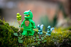 Dino family (Ballou34) Tags: 2019 7dmark2 7dmarkii 7d2 7dii afol ballou34 canon canon7dmarkii canon7dii eos eos7dmarkii eos7d2 eos7dii flickr lego legographer legography minifigures photography stuckinplastic toy toyphotography toys stuck in plastic dinosaur family raptor ice cream dino trex moss