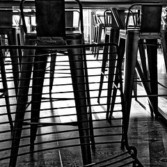Chairs 23/365 2019 (Simply Lewis) Tags: huaweip10plus mono monochrome shadows sunlight metal 365the2019edition 3652019 day23365 23jan19 project365 project3652019
