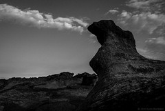 Monolith  #5545 (lynnb's snaps) Tags: digital nature rocks v1 monolith nikon1v1 1inchsensor iso100 10mm 1200sec f56 rocky clouds cloud menacing moody monochrome bw blackandwhite bianconegro biancoenero blackwhite bianconero blancoynegro noiretblanc schwarzweis landscape