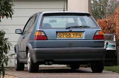 G756 YPV (Nivek.Old.Gold) Tags: 1990 volkswagen golf gti 3door 1781cc mannegerton ipswich
