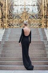 (dimitryroulland) Tags: nikon d750 85mm 18 dimitryroulland people portrait back dress black stairs paris france natural light class classy glam fashion