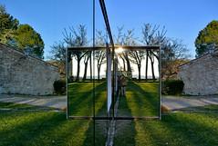 Giocando con gli specchi (antonella galardi) Tags: toscana siena chianti gaiole chiesa 2019 castello ama arte contemporanea danielburen vigne specchi