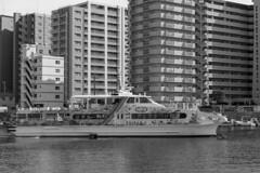 ferry boat (Hideki-I) Tags: akashi hyogo japan nikon d850 2470 bw blackandwhite ferry monochrome 白黒 黑 白 黑白