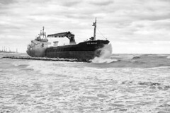 In the storm (L▲iv ©) Tags: bari puglia adriaticsea italy ancorati navy fuji