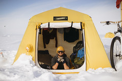 Home for December and January (JeffAmantea) Tags: camplife camp lift tent camping antarctica wais divide antarctic plateau self portrait snow ice cold summer pitviper sonyalpha sony alpha emount nikon nikkor 50mm f14 metabones