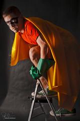 Robin (Philip Bonneau) Tags: robin batman hero superhero costume pretend cute stepladder ladder shoes studio