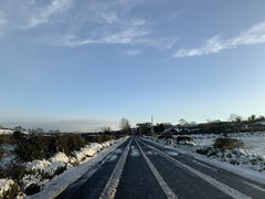 Snow Day - County Cork, Ireland - March 3, 2019 (firehouse.ie) Tags: sunlight clouds skies sky 2019 march ireland snowscape snow countryside countycork highways highway roadways roadway roads road