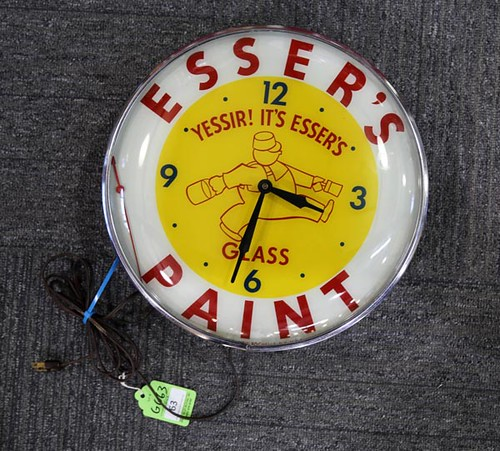 Esser's Paint Advertising Electric Wall Clock ($291.20)
