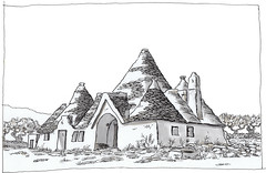 Italy, Puglia, Montalbano (pirlouit72) Tags: italie italy puglia trulli sketch drawing dessin croquis urbansketch urbansketcher urbansketchers carnetdevoyage