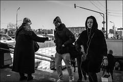 DR160218_0955D (dmitryzhkov) Tags: urban city everyday public place outdoor life human social stranger documentary photojournalism candid street dmitryryzhkov moscow russia streetphotography people man mankind humanity bw blackandwhite monochrome