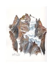 Face nord de l'Aiguille du Plan (Yvan LEMEUR) Tags: aquarelle watercolour acuarela peinture mountain montagne aiguilleduplan aiguillesdechamonix alpinisme alpes glacier glaciersuspendu hautemontagne hautesavoie chamonix massifdumontblanc