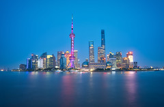 Shanghai & Lights (Luís Henrique Boucault) Tags: architecture asia asian attraction background beautiful blue building bund business center central china chinese city cityscape construction district downtown evening famous finance financial huangpu landmark landscape light lujiazui modern night office oriental pearl place pudong reflection river scene shanghai sky skyline skyscrapers sunset tourism tower travel twilight urban view water