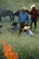 Branding Break on Ranch (JC Richardson) Tags: greatplains midwest prairie plains cowboys ranch hats