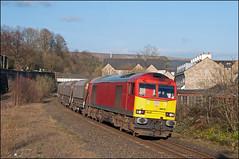 60010, Chinley (UK), 25/03/19 (bontybermo402) Tags: db lostock chinley tunstead 60010 6f05 stone cargo freight hopevalley