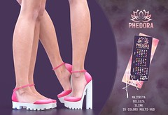 "Phedora. for Belle. Events - ""Ava"" flats & Platforms ♥ (Celena Galli ~ phedora.) Tags: sl secondlife second life phedora 3d mesh shoes brand heels platforms shoewear womenswear pumps woman women sexy sassy stylish classy cute chic kinky kawaii fashion event monthly events original content 100mesh new release newrelease meshbody hud multihud maitreya lara belleza isis freya slink hourglass physique shopping shopaholic shappaholic straps ankle booties streetwear ankleboots urban funky heel strappy style strappyheels kinkyyy avatar female femaleavatar femaleavi footwear belle belleevent"