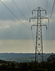 Pylon to Heathfield Masts (ianbartlett) Tags: outdoor 365 nature wildlife landscapes monochrome cars pylons waterfalls deer lambs insects flowers trees bridges streams ponds orchids bluebells boathouse