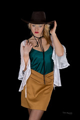 Country (piotr_szymanek) Tags: ania aniaz woman young skinny face portrait studio eyesoncamera hat mini skirt blonde 1k 20f 50f 5k 10k