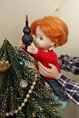 Christmas tree (kinmegami) Tags: christmastree christmas doll integrity toys miniature barbie roombox diorama 16 mattel kelly obitsu11