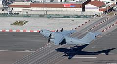 Royal Air Force Airbus Military A400M ZM411 departing RAF Gibraltar/LXGB (Mosh70) Tags: gibraltar rafgibraltar raf rafbrizenorton royalairforce airbusmilitary a400matlas a400matlasc1 zm411 zm415 70sqn 24sqn xxivsqn