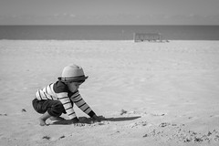 Serenity of a toddler (NiTsClicks) Tags: beach sand kid toddler child play playing pentax k3 50mm hat serene florida st pete