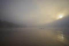 Early morning mist over the Mekong (Tom Helleboe) Tags: laos luangprabang