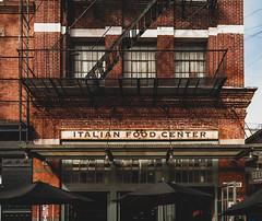 Italian Food Center (JulieT__Photography) Tags: newyork2018 manhattan littleitaly ny italianfood color building italian food center stairs black red urban restaurant