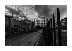 Last Days Empress Coaches © (wpnewington) Tags: canal gasometer london eastend monochrome bw e2